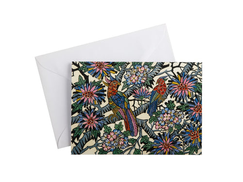 MW GREG IRVINE GREETING CARD BIRDS IN PARADISE