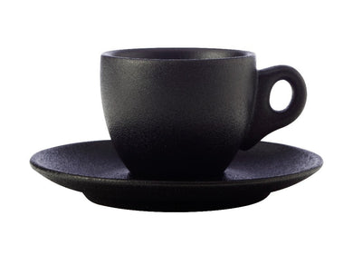 Maxwell & Williams Caviar Demi Cup & Saucer 100ml Black - ZOES Kitchen