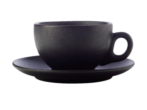Maxwell & Williams Caviar Coupe Cup & Saucer 250ml Black - ZOES Kitchen