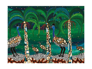 Maxwell & Williams Melanie Hava Jugaig-Bana-Wabu Tea Towel 50x70cm Cassowaries Home - ZOES Kitchen