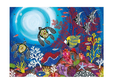 Maxwell & Williams Melanie Hava Jugaig-Bana-Wabu Tea Towel 50x70cm Reef Wonderland - ZOES Kitchen