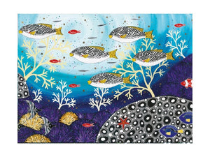 Maxwell & Williams Melanie Hava Jugaig-Bana-Wabu Tea Towel 50x70cm Goldman Sweetlips - ZOES Kitchen