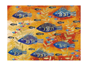 Maxwell & Williams Melanie Hava Jugaig-Bana-Wabu Tea Towel 50x70cm River Life - ZOES Kitchen