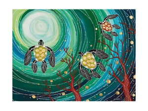 Maxwell & Williams Melanie Hava Jugaig-Bana-Wabu Tea Towel 50x70cm Turtles - ZOES Kitchen
