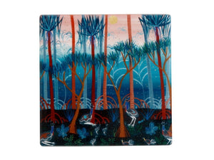 Maxwell & Williams Melanie Hava Jugaig-Bana-Wabu Ceramic Square Coaster 10cm Cassowaries - ZOES Kitchen