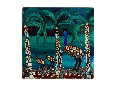 Maxwell & Williams Melanie Hava Jugaig-Bana-Wabu Ceramic Square Coaster 10cm Cassowaries Home - ZOES Kitchen