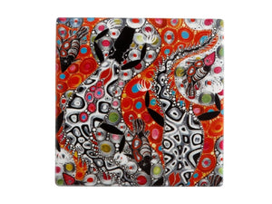 Maxwell & Williams Melanie Hava Jugaig-Bana-Wabu Ceramic Square Coaster 10cm Crocodiles - ZOES Kitchen