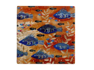 Maxwell & Williams Melanie Hava Jugaig-Bana-Wabu Ceramic Square Coaster 10cm River Life - ZOES Kitchen