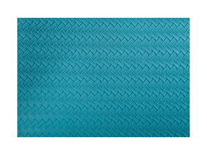 Maxwell & Williams Table Accents Leather Look Placemat 43x30cm Teal Plait - ZoeKitchen