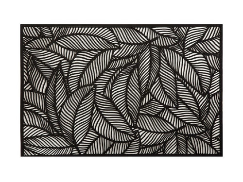 Maxwell & Williams Table Accents Cut-Out Placemat 45x30cm Leaf Black - ZoeKitchen