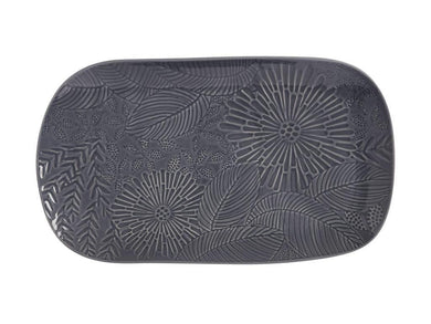Maxwell & Williams Panama Oblong Platter 39x23cm Grey Gift Boxed