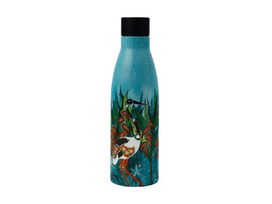 Maxwell & Williams Melanie Hava Jugaig-Bana-Wabu Double Wall Insulated Bottle 500ML Jabirus Blue - ZOES Kitchen