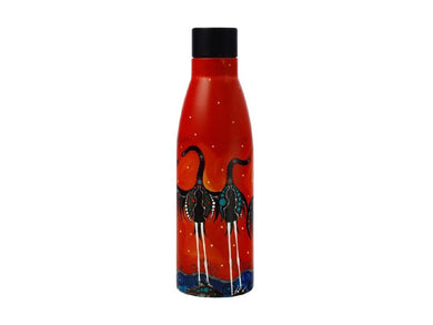 Maxwell & Williams Melanie Hava Jugaig-Bana-Wabu Double Wall Insulated Bottle 500ML Brolgas' Symphony - ZOES Kitchen
