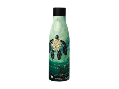 Maxwell & Williams Melanie Hava Jugaig-Bana-Wabu Double Wall Insulated Bottle 500ML Turtles - ZOES Kitchen