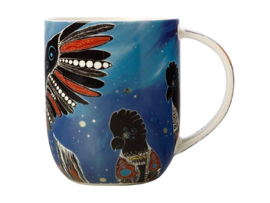 Maxwell & Williams Melanie Hava Jugaig-Bana-Wabu Mug 440ML Black Cockatoos GB - ZOES Kitchen