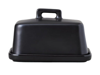 Maxwell & Williams Epicurious Butter Dish Black Gift Boxed