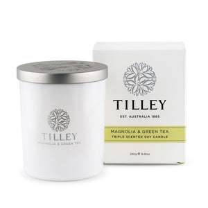 Tilley Classic White - Soy Candle 240g - Magnolia & Green Tea - ZoeKitchen