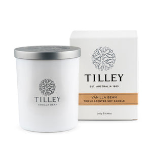 Tilley Classic White - Soy Candle 240g - Vanilla Bean - ZoeKitchen