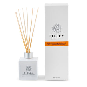 TILLEY CLASSIC WHITE - REED DIFFUSER 150ML - SANDLEWOOD & BERGAMOT