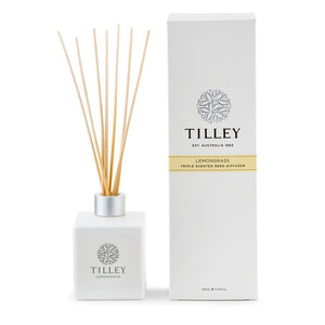 Tilley Classic White - Reed Diffuser 150 Ml - Lemongrass - ZOES Kitchen