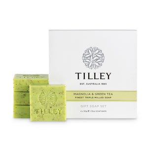 TILLEY CLASSIC WHITE - SOAP GIFT PACK 200G - MAGNOLIA & GREEN TEA