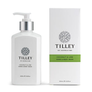 tilley classic white - body wash 400ml - lime & coconut - ZoeKitchen