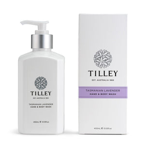 Tilley Classic White - Body Wash 400ml - Tasmanian Lavender - ZoeKitchen