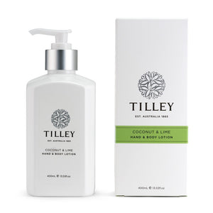 tilley classic white - body lotion 400ml - coconut & lime - ZoeKitchen