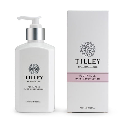 TILLEY CLASSIC WHITE - BODY LOTION 400ML - PEONY ROSE