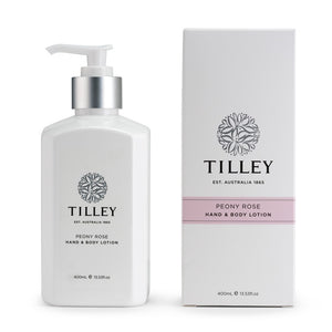 tilley classic white - body lotion 400ml - peony rose - ZoeKitchen