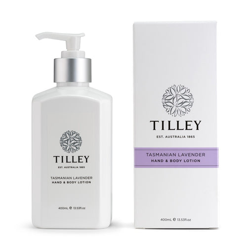 tilley classic white - body lotion 400ml - tasmanian lavender - ZoeKitchen