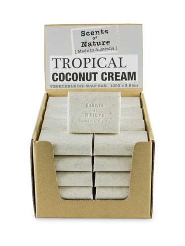 Tilley Scents Of Nature - Soap Bars 100g - Tropical Coconut Cream - ZoeKitchen