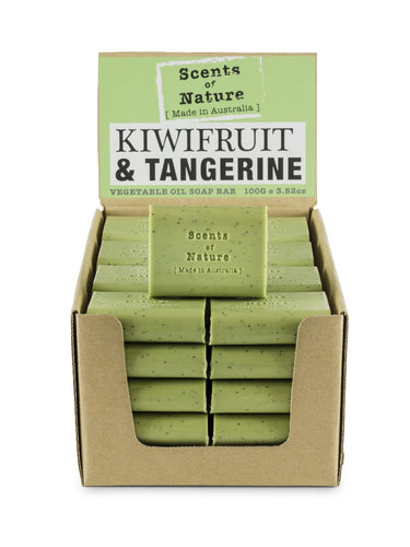TILLEY SCENTS OF NATURE - SOAP BARS 100G - KIWIFRUIT & TANGERINE