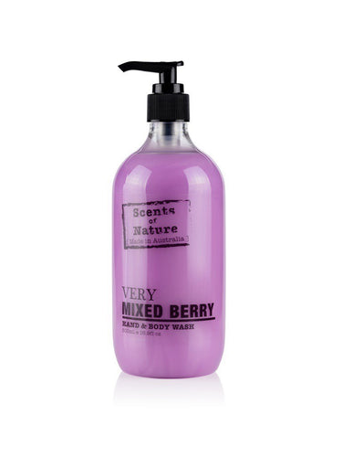 tilley scents of nature - body wash 500ml - very mixed berry - ZoeKitchen