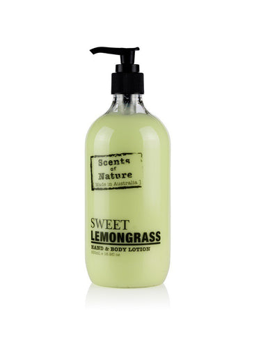 TILLEY SCENTS OF NATURE - BODY LOTION 500ML - SWEET LEMONGRASS - ZoeKitchen