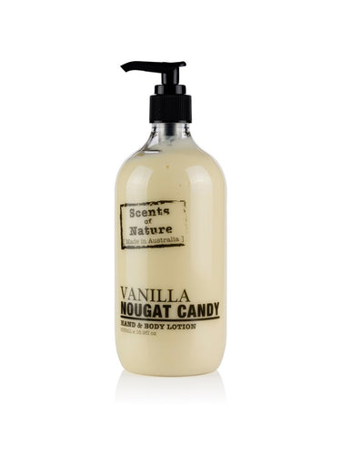 TILLEY SCENTS OF NATURE - BODY LOTION 500ML - VANILLA NOUGAT CANDY