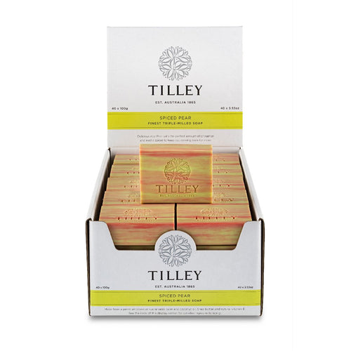 Tilley Classic White - Soap 100g - Spiced Pear - ZoeKitchen