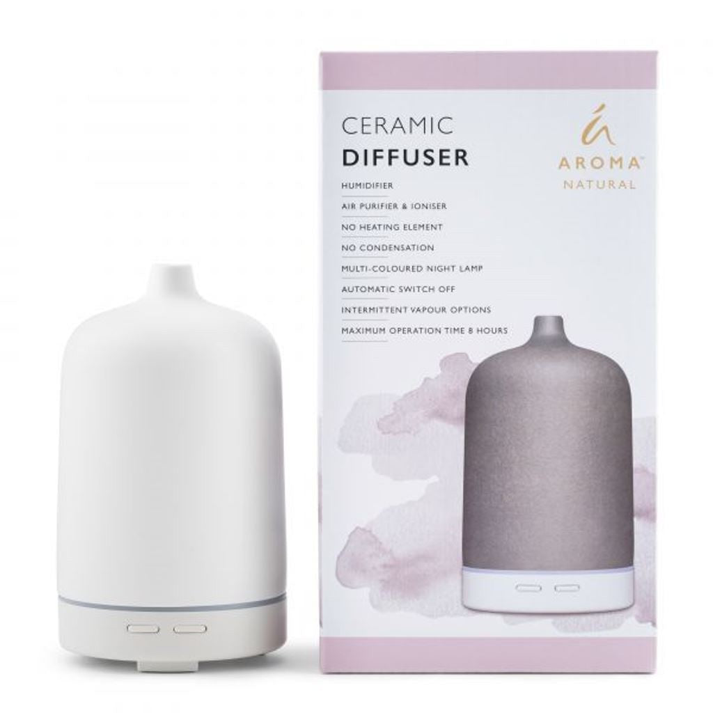 Tilley Aroma Natural - Ceramic Diffuser - Smooth White - ZoeKitchen