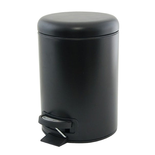 S&P SUDS PEDAL PUSH BIN 3L BLACK