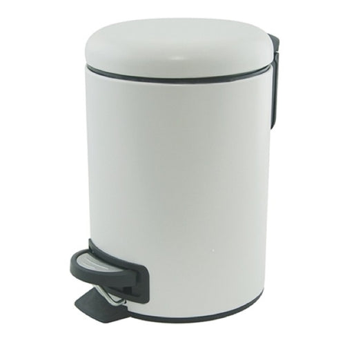S&P SUDS PEDAL PUSH BIN 3L WHITE
