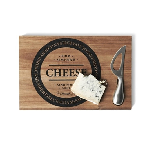 Salt&Pepper Fromage Cheese Board With Double Handle Knife - ZoeKitchen