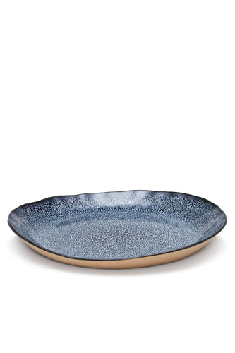Salt&Pepper Nomad Side Plate 22cm Blue Dappled - ZOES Kitchen