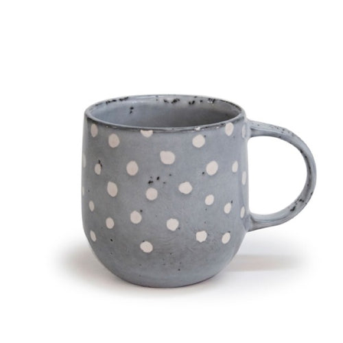 s&p naoko mug polka grey380ml - ZoeKitchen