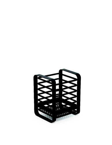 Salt&Pepper Ebony Utensil Holder 11.5x8x13.5cm - ZoeKitchen