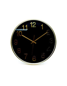 Salt&Pepper Zone Rene 38cm Black & Gold Clock - ZoeKitchen