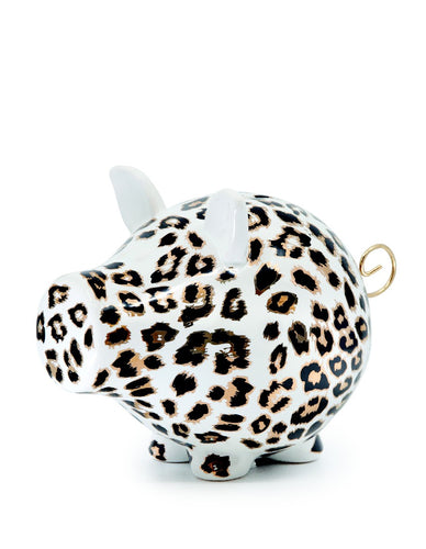 S&P OINK MONEY BOX LEOPARD 23CM