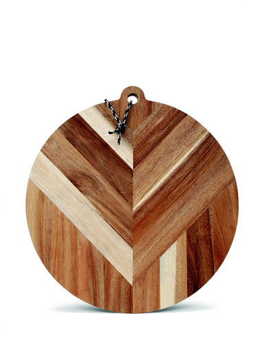 Salt&Pepper Raffia Serving Board Round 40cm - ZOES Kitchen