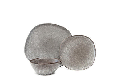 Salt&Pepper Arch Dinner Set 12pc Charcoal - ZOES Kitchen