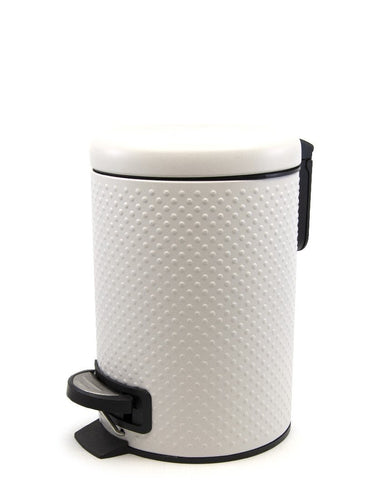 Salt & Pepper suds spot pedal bin white 3l