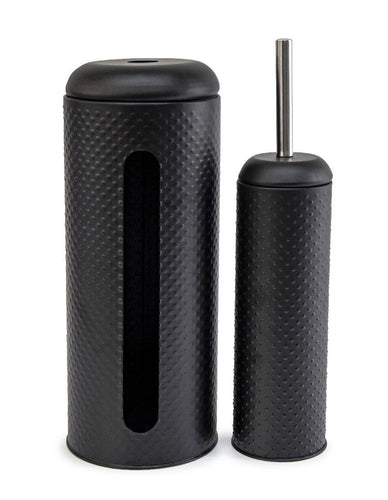 Salt&Pepper Suds Spot Toilet Brush & Roll Holder Black - ZoeKitchen